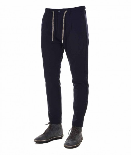 Cruna  Chinos in wool blend navy