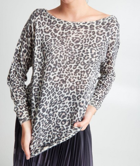Guess Sweater Animalier Bunt