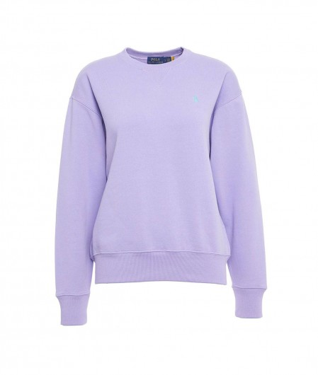 Polo Ralph Lauren Sweater with logo embroidery violet