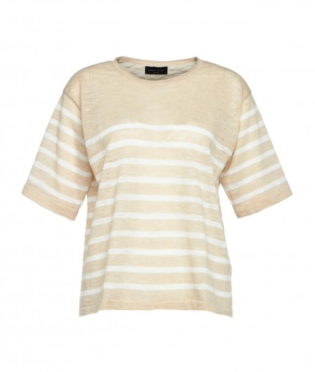 Roberto Collina Shirt with stripes beige
