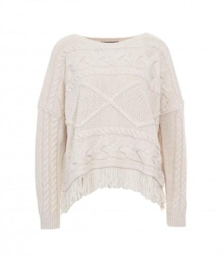 Kaos Sweater mit Fransen Panna