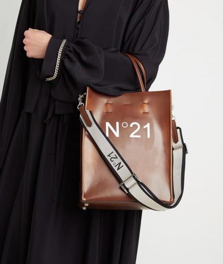 N°21 Shopper mit Logo Braun