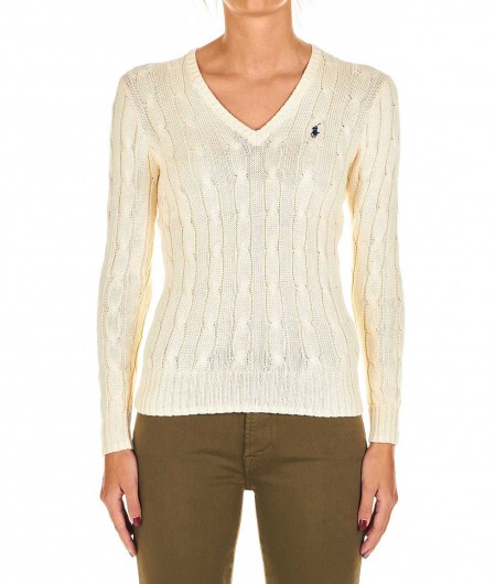 Polo Ralph Lauren Sweater with braid knit creme