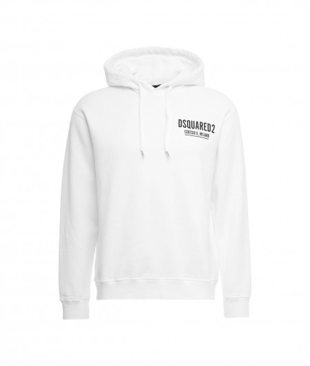 Dsquared2 Hoodie with logo writing white
