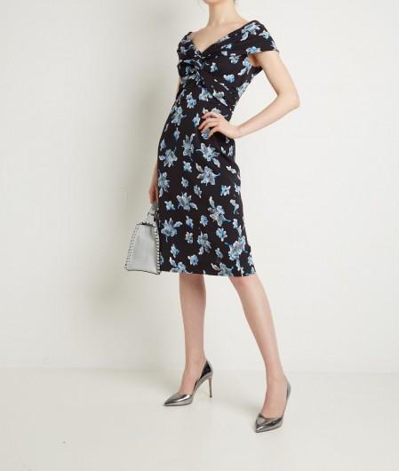 """Diane von Furstenberg Floral printed dress """"Candice"""" blue"""