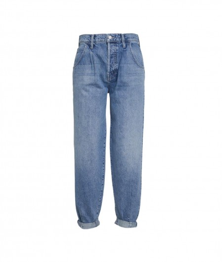 """Mother Jeans """"Bounce Hover Dart Cuffed"""" Blau"""