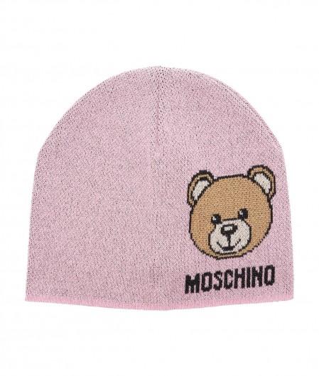 Moschino Mütze mit Glitzerfinish Rosa