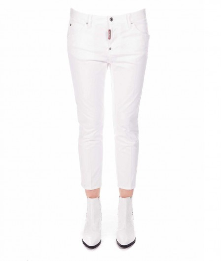Dsquared2 Cool Girl Cropped Jean Weiß