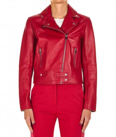 "Pinko Lamb leather jacket ""Sensibile"" red"