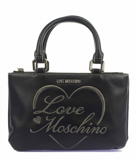 Love Moschino Bag with logo embroidery black