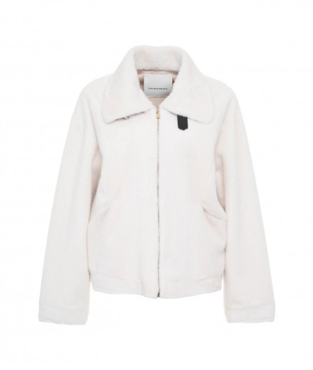 "Silvian Heach Jacket ""Agner"" in eco fur white"