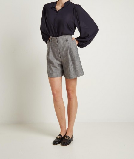 Kaos Blouse with puffed sleeves navy