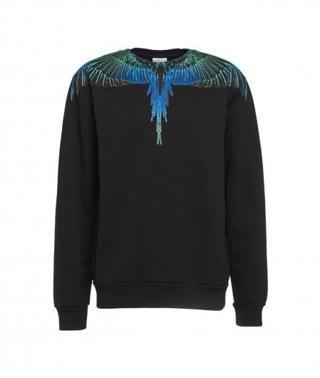 Marcelo Burlon Wings Regular Crew Neck Sweater Schwarz