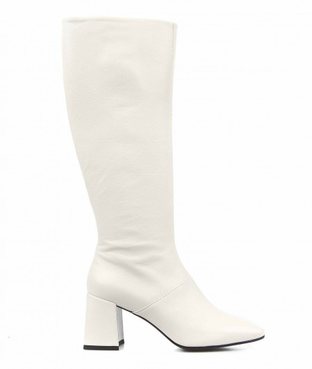 Giampaolo Viozzi  Boots in smooth leather white