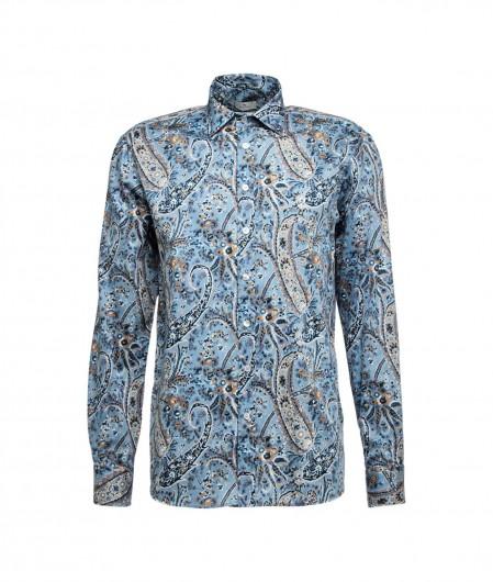 Etro Paisley shirt light blue