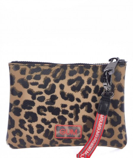 Gum  Mini bag with animal print beige