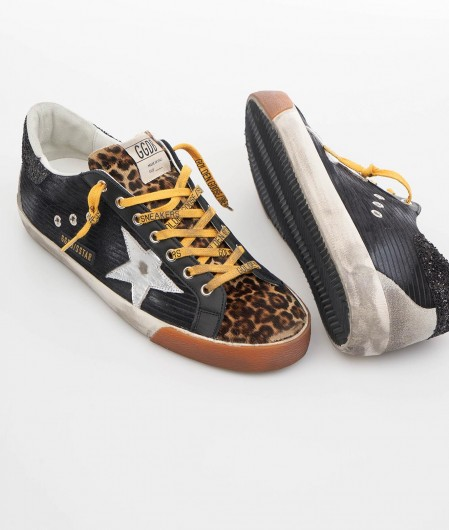 "Golden Goose Sneaker ""Super-Star"" Animalier Bunt"