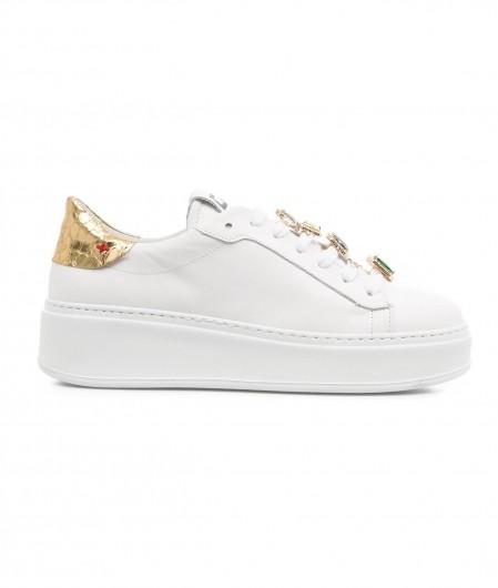 Gio+ Sneaker with gemstones white