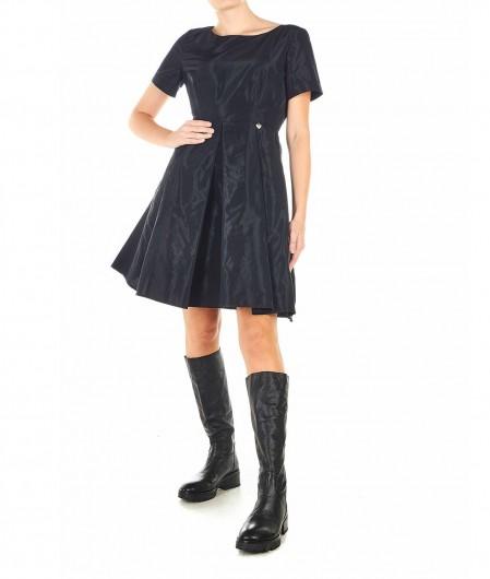 Twin Set Kleid mit Kellerfalte Schwarz
