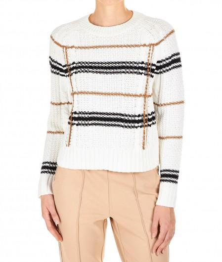 """360 Sweater Checked sweater """"Ella"""" white"""