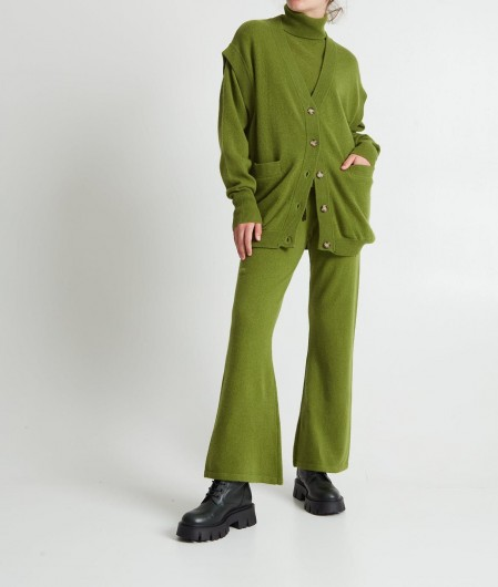 Crush Turtleneck sweater in cashmere green