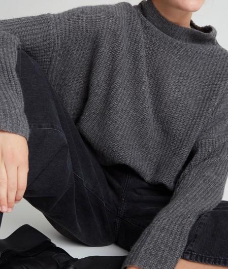 360 Sweater Sweater in Kaschmir Dunkelgrau