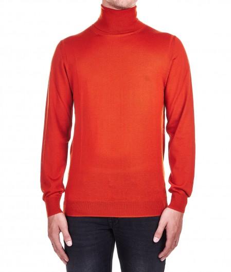 Paolo Pecora  Turtleneck sweater in wool orange