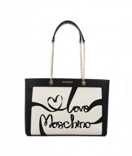 Love Moschino Shoulder bag with logo writing black