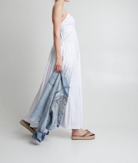 Twin Set Actitude Kleid mit Volants Weiß