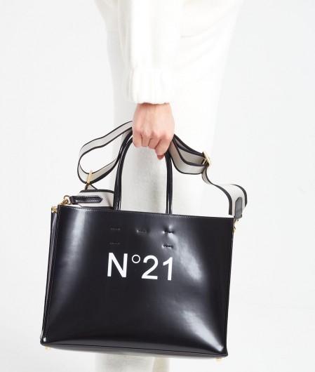 N°21 Shopper mit Logo Schwarz