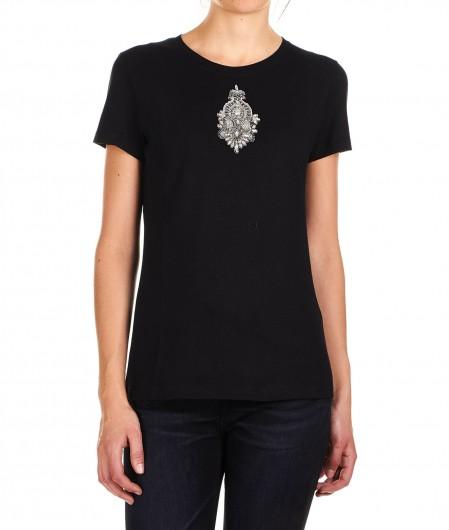 Dondup T-Shirt mit Strass-Applikation Schwarz