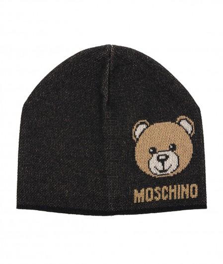 Moschino Mütze mit Glitzerfinish Schwarz