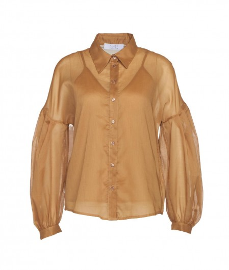 Kaos Blouse with wide sleeve brown