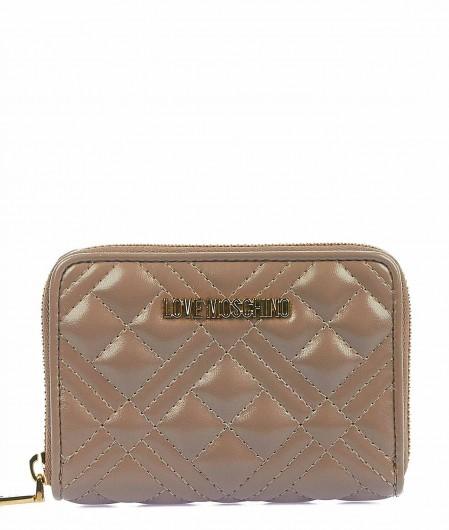 Love Moschino Portemonnaie mit Logo Hellgrau