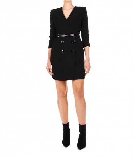 Elisabetta Franchi Mini abito in stile blazer nero