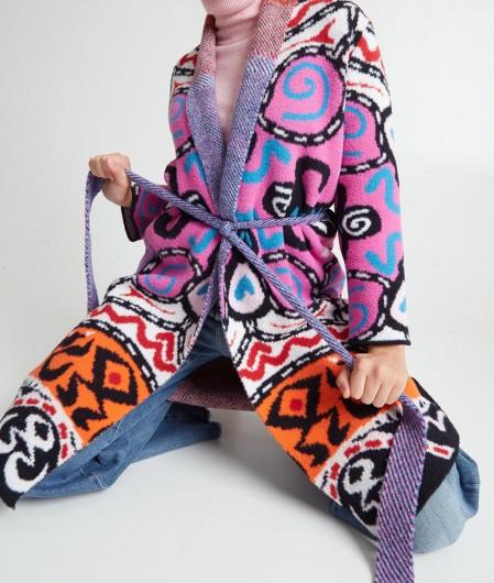 Akep Cardigan im Mustermix Pink