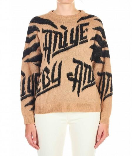 "Aniye By Knit sweater ""Kami"" with logo lettering beige"