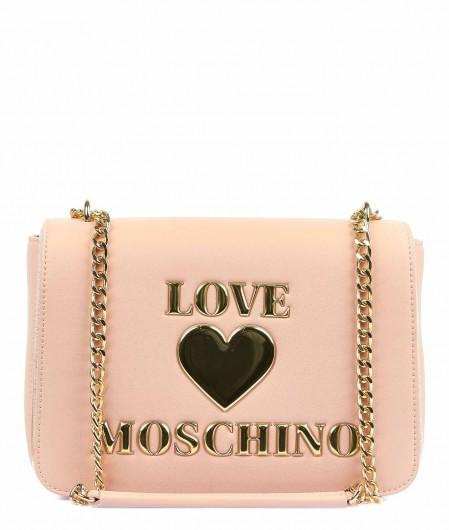 Love Moschino Tasche mit Logopatch Hellrosa