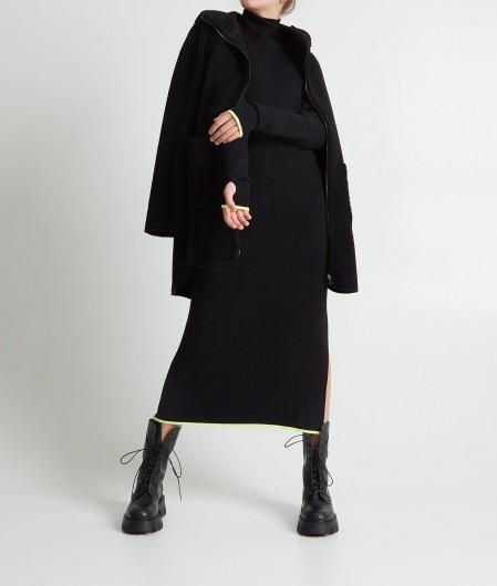 """Clothe Mantel """"Mulan"""" mit Zip Schwarz"""