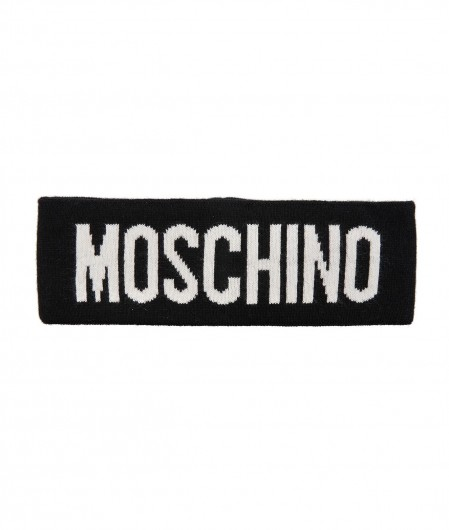Moschino Headband with logo black
