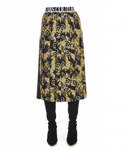 Versace Jeans Couture Plisseerock mit Logodetails Schwarz