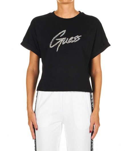 Guess T-shirt with strass black