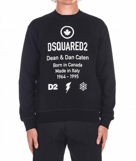 Dsquared2 Pullover mit Logoschriftzug Schwarz