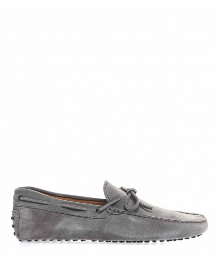 Tod's Driving shoes in suede light gray