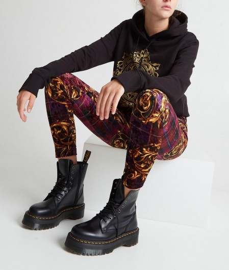 Versace Jeans Couture Hoodie with logo emblem black