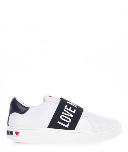 Love Moschino Slip On Sneaker mit Logodetail Weiß