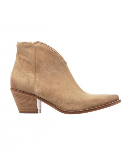 Curiosité Ankle Boots in suede beige