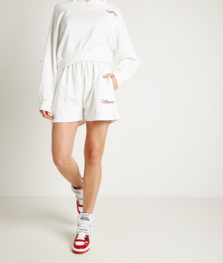 """Follovers Cropped hoodie """"Kylie"""" white"""