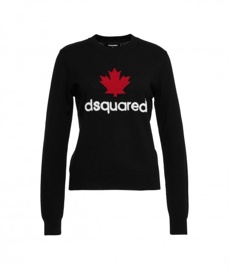 Dsquared2 Sweater with logo embroidery black