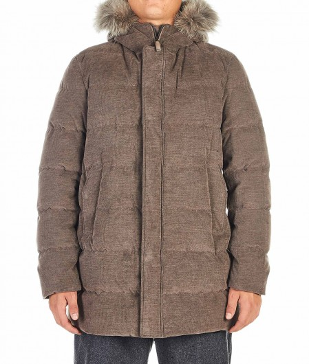Herno Quilted jacket light brown